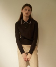 [NOTA] BUTTON COLLAR KNIT