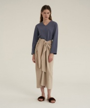 [NOTA] TWIST THIN WOOL SKIRT