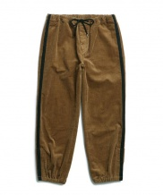 [OVERCAST] Corduroy Side Tape Easy Pants