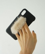[MIDNIGHT MOMENT] mink fur leather case