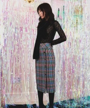 [Sorry, Too Much Love] Buttondown Check Midi Skirt