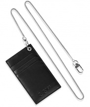 [S SY] REAL LEATHER CARD HOLDER & UTILITY SUGICAL CHAIN