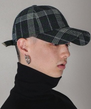 [S SY] IN COLOR BASIC CHECK CAP