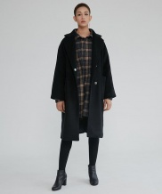 [WUZU STUDIO] WUZU OVER LONG DUFFLE COAT (W)