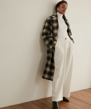 [WUZU STUDIO] WUZU OVER LONG DUFFLE COAT [CHECK] (W)