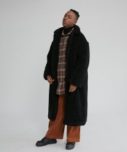 [WUZU STUDIO] WUZU OVER LONG FLEECE COAT