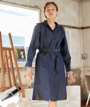 [YouNess] Denim Coat Dress