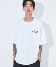 [ATTENTIONROW] overfit face printing T-shirt