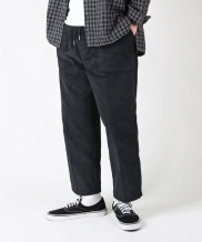 [S SY] WIDE CORDUROY CROP BAND PANTS