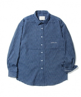 [Diamond Layla] Layla everlasting love Killer Whale blue Check shirt S26