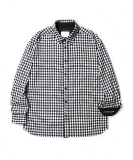 [Diamond Layla] [SPECIAL EXPORT LINE]Layla everlasting love B/N Mixed Check Shirt Jacket ES1