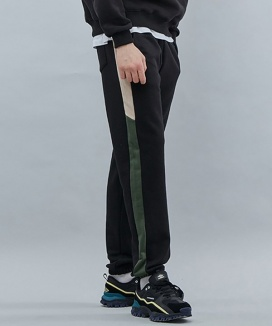 [motivestreet] LINE SWEAT JOGGER PANTS
