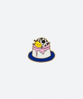 [kom til mig] PIN BADGE PUDDING CHIC