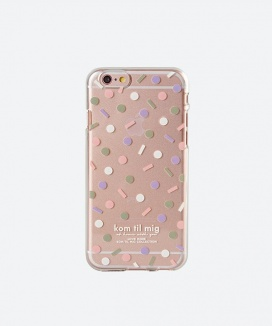 [kom til mig] DOT PATTERN JELLY CASE