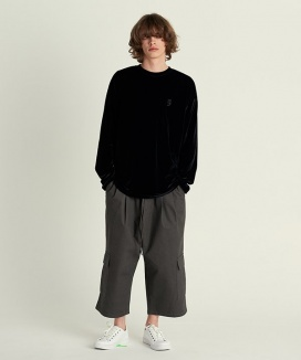 [A NOTHING] WASHED CANVAS CARGO WIDE PANTS