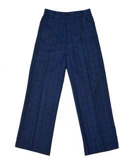 [ulkin] UL:KIN ARTISTIC COLORBLOCKED CHECK TROUSERS