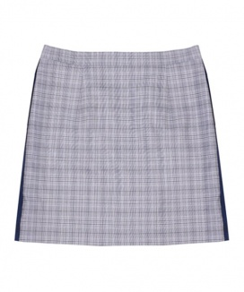 [ulkin] UL:KIN ARTISTIC COLORBLOCKED CHECK SKIRT