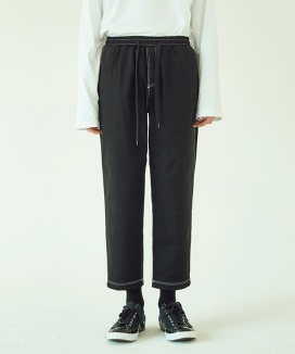 [LAYER UNION] CTRS ST CROPPED BAND PANTS