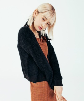 [RUNNING HIGH] CROP KNIT CARDIGAN