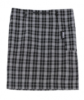 [BASIC COTTON] basic skirt [check]
