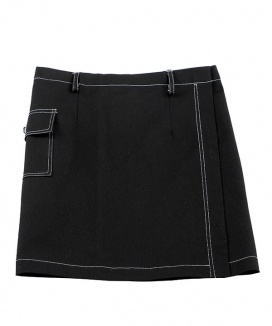 [BASIC COTTON] basic stitch skirt [cotton]