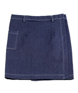 [BASIC COTTON] basic demin skirt