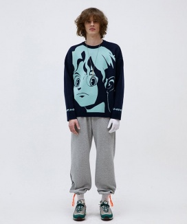 [HEICH BLADE] ANIMATION PULLOVER KNIT