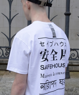 [SAFE HOUSE] multilanguage halfsleeve t-shirt