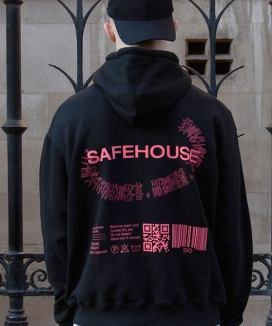[SAFE HOUSE] graphic hoodie