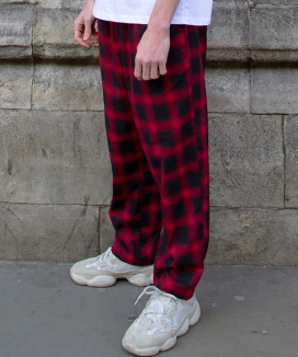 [SAFE HOUSE] wide tartan pants