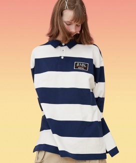[5252] STRIPE RUGBY T-SHIRTS