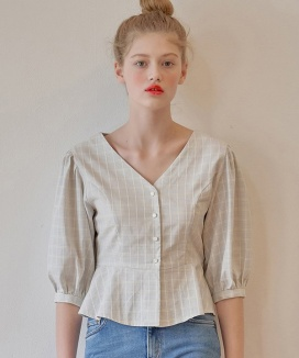 [margarin fingers] puff blouse