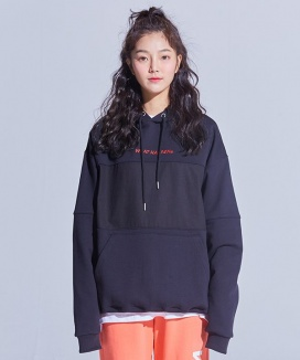 [WHAT HAPPEN] EMBROIDERY COLORATION HOODIE