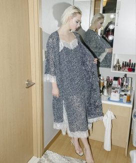 [CLUTSTUDIO] baby's breath lace robe