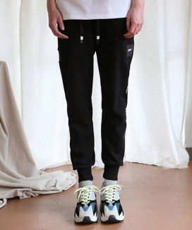 [ANOUTFIT] UNISEX PWC TAP JOGGER TRACK PANTS