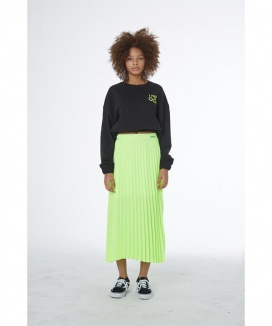 [OOD] NEON PLEATS BANDING SKIRT