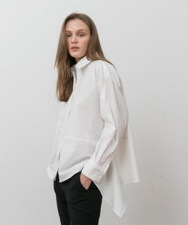 [YouNess] Drape Part Shirt