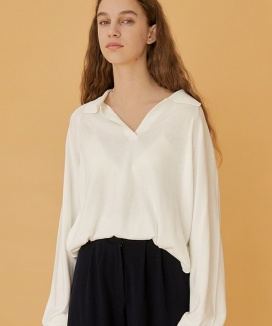 [nuissue] COZY COLLAR KNIT