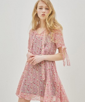 [Sorry, Too Much Love] Side Ruffle String Dress