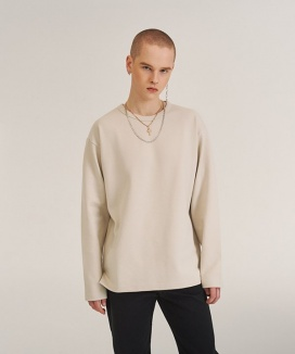 [A.GLOWW] MINIMAL LABEL LONG SLEEVE