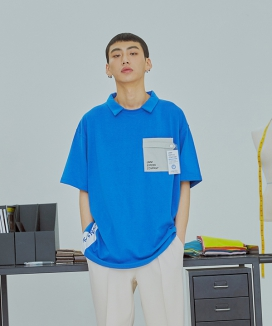 [UMM] UMM OFFICE POCKET COLLAR T-SHIRTS