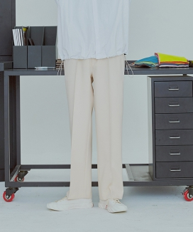 [UMM] PINTUCK WIDE BANDING SLACKS