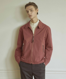 [WOONMU] LEATHER KNOT LOOSE FIT BLOUSON