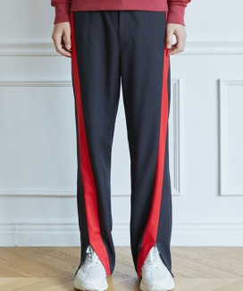 [WOONMU] FRONT SLIT TROUSER