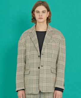 [COQUET STUDIO] MA-1 SLEEVE CHECK JACKET (OVERFIT)