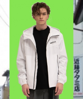 [AKECII] normal hood coach jacket