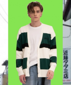 [AKECII] normal stripe cardigan