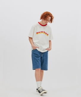 [WKNDRS] BASIC DENIM SHORTS