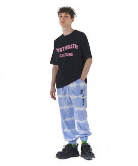 [youthbath] Pink wave logo short sleeve T