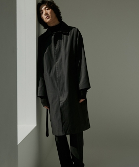 [WUZU STUDIO] WUZU OVER LONG MAC COAT